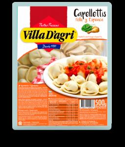 Capellettis con pollo y espinaca